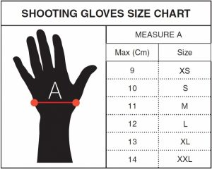 Target Shooting Glove Size Chart